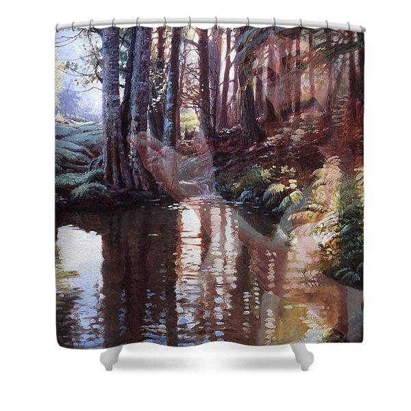 Come, Explore With Me Shower Curtain