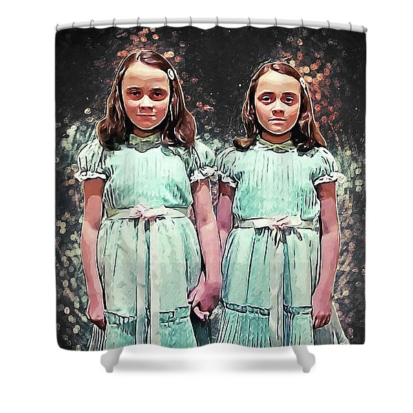 Come Play With Us - The Shining Twins Shower Curtain