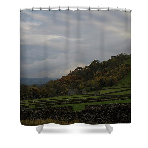 Derbyshire Stone Walls Shower Curtain