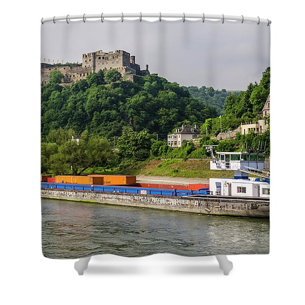 Commerce Along The Rhine Shower Curtain