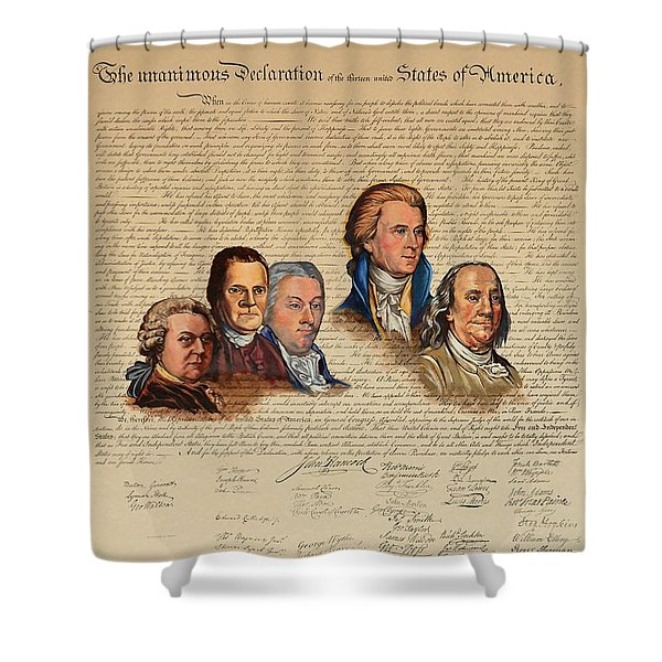 Committee Of Five Shower Curtain
