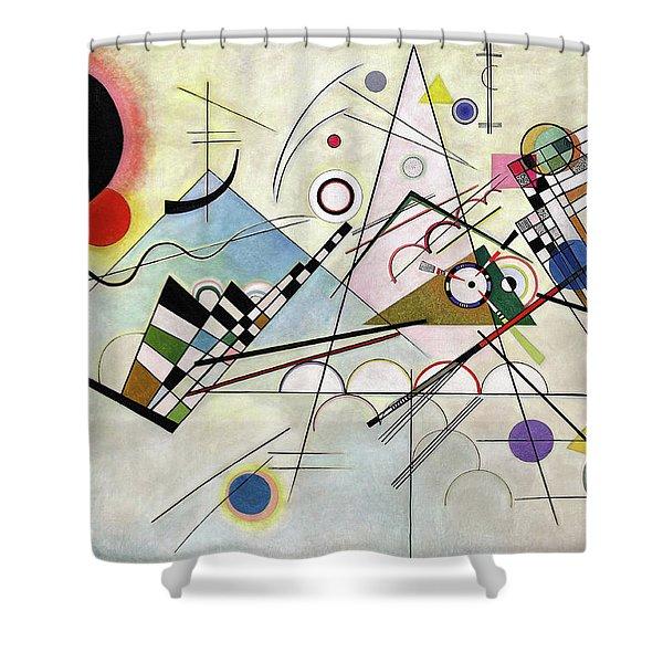 Composition 8 - Komposition 8 Shower Curtain