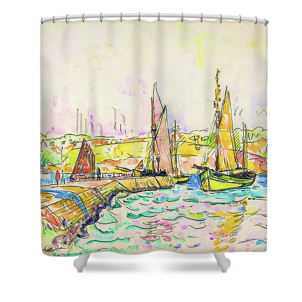Concarneau - Digital Remastered Edition Shower Curtain