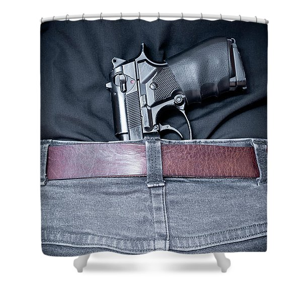 Concealed Carry Shower Curtain