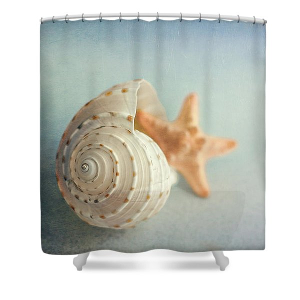Conch Shell And Starfish Shower Curtain