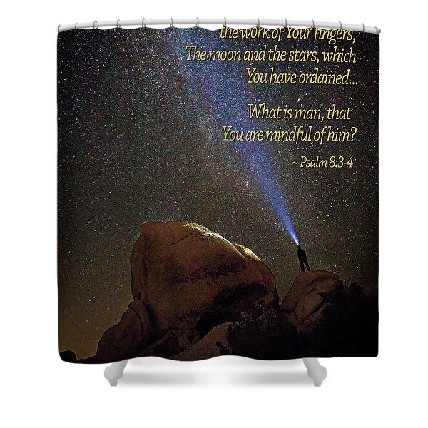Consider The Heavens Shower Curtain