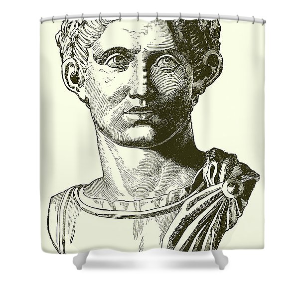 Constantine The Great, Engraving Shower Curtain