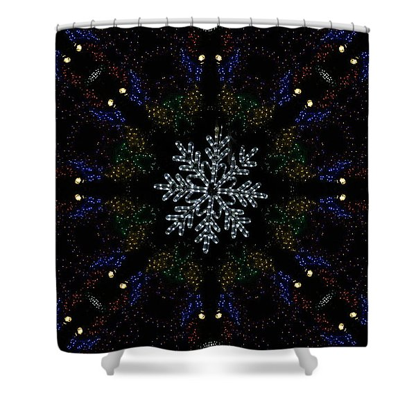 Continuous Christmas Lights Shower Curtain
