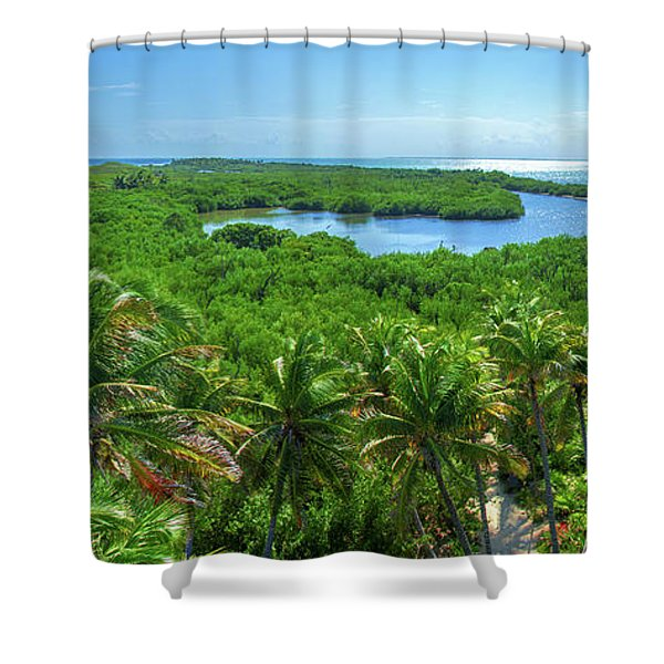 Contoy Island Shower Curtain