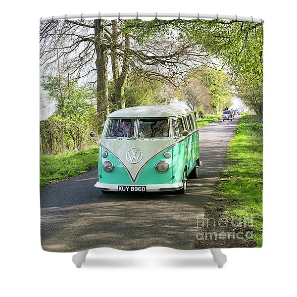 Convoy In The Countryside Shower Curtain