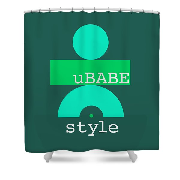 Cool Green Style Shower Curtain