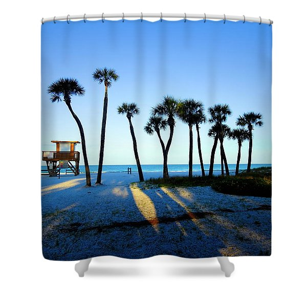 Coquina Palms Shower Curtain