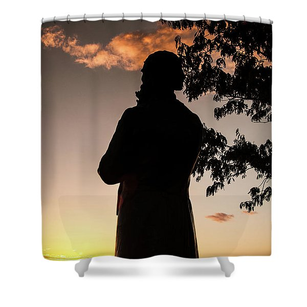 Corby At Sunset Shower Curtain