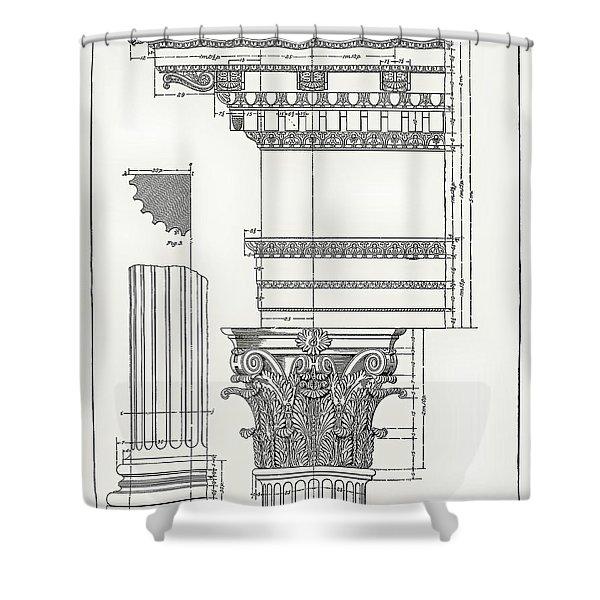 Corinthian Architecture Shower Curtain