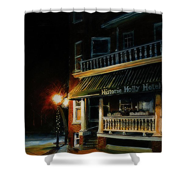 Corner Light Shower Curtain