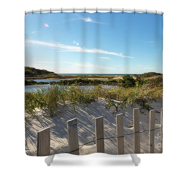 Corporation Beach Cape Cod Shower Curtain
