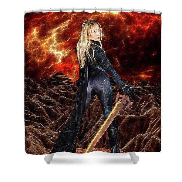 Cosmic Destroyer Shower Curtain