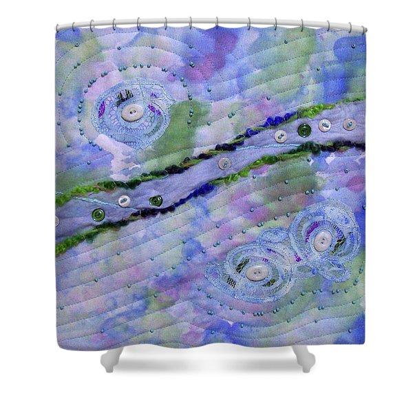 Cosmic Stream Shower Curtain