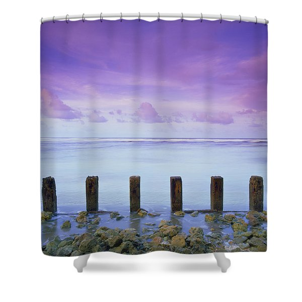 Cotton Candy Skies Over The Sea Shower Curtain