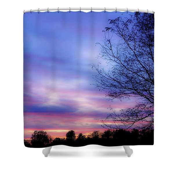 Cotton Candy Sunset In October Shower Curtain