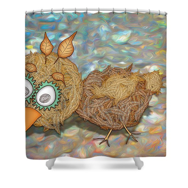 Count Your Chicken Shower Curtain