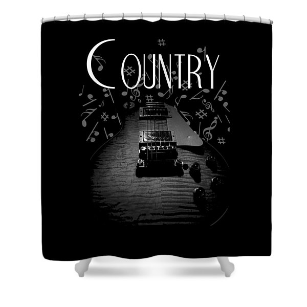 Country Music Guitar Music Shower Curtain