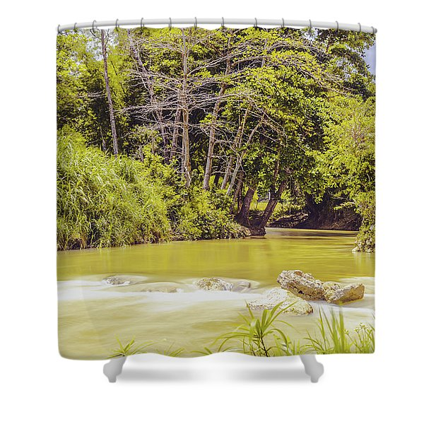 Country River In Trelawny Jamaica Shower Curtain