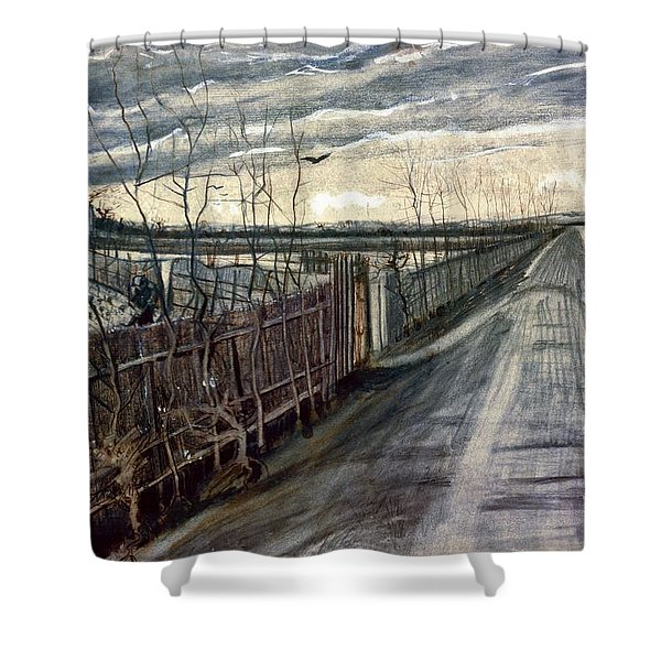 Country Road - Digital Remastered Edition Shower Curtain