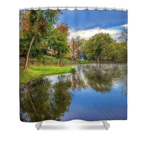 Countryside Drive Shower Curtain