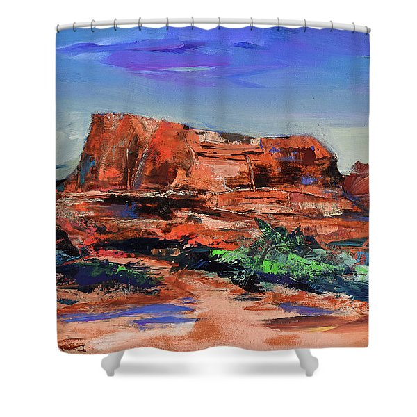 Courthouse Butte Rock - Sedona Shower Curtain