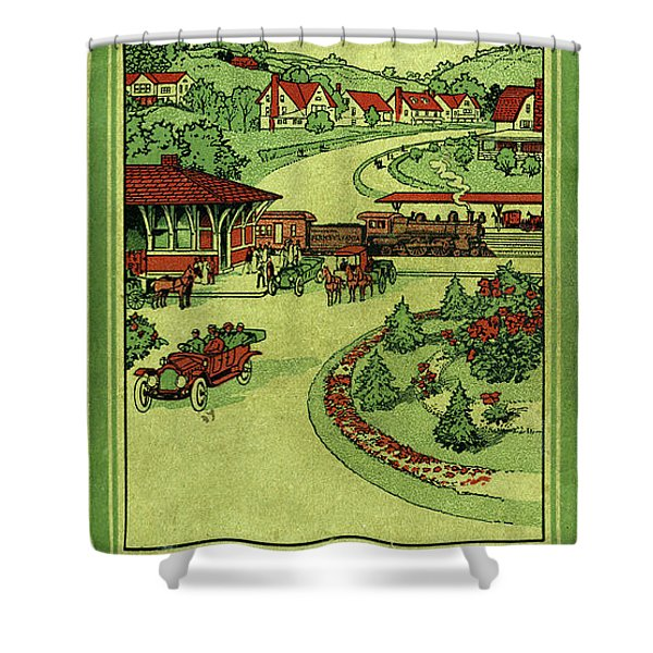 Cover Of Thirty Miles Around Philadelphia Shower Curtain