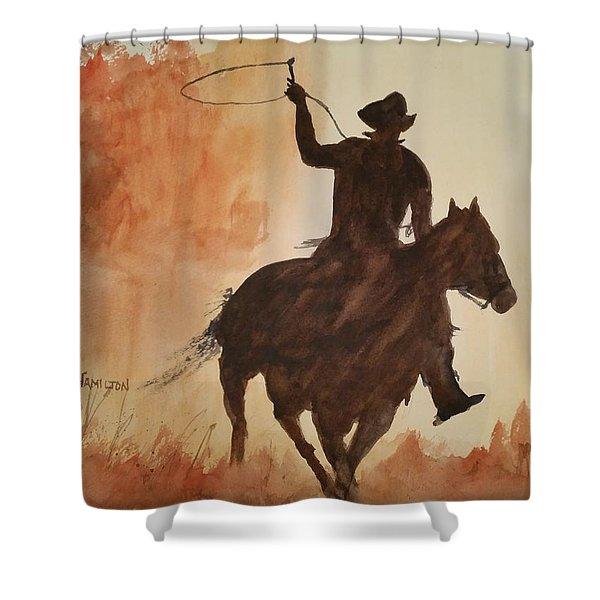 Cowboy Hero Shower Curtain
