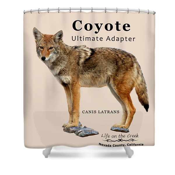 Coyote Ultimate Adaptor Shower Curtain