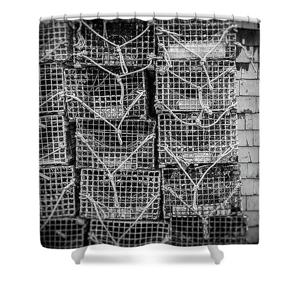 Crab Traps Shower Curtain