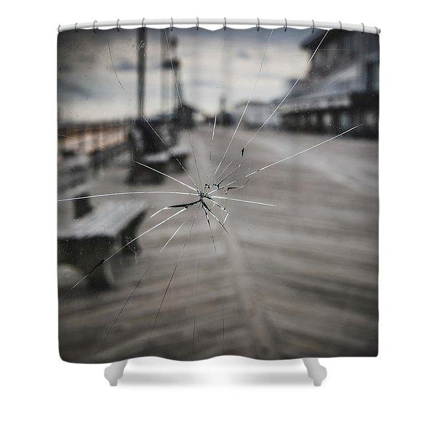 Crack Shower Curtain