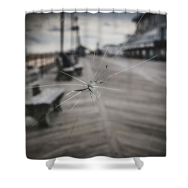 Crack Shower Curtain