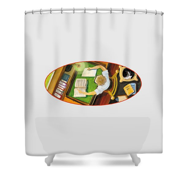 Crack'n The Books Shower Curtain