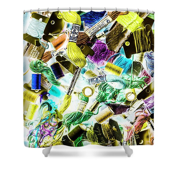 Crafted In Retro Shower Curtain