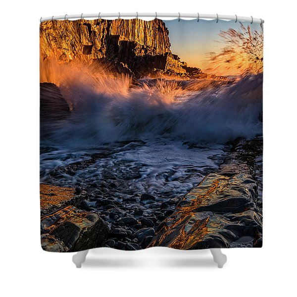 Shower Curtain featuring the photograph Crash by Jeff Sinon