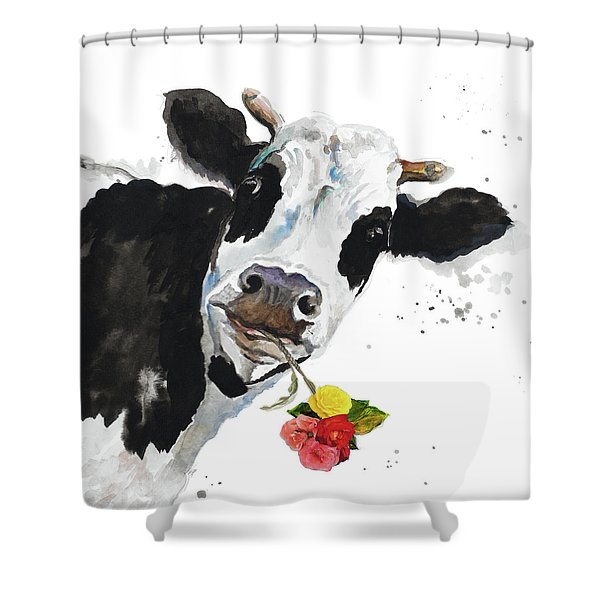 Crazy Cow Shower Curtain