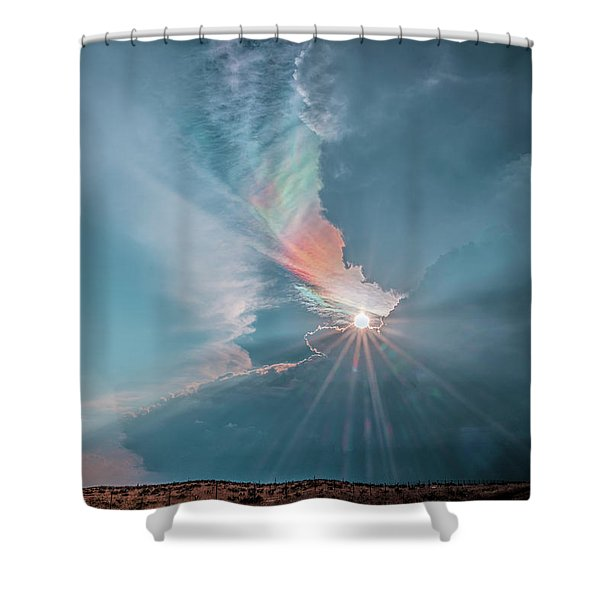 Crazy Luminescence Shower Curtain