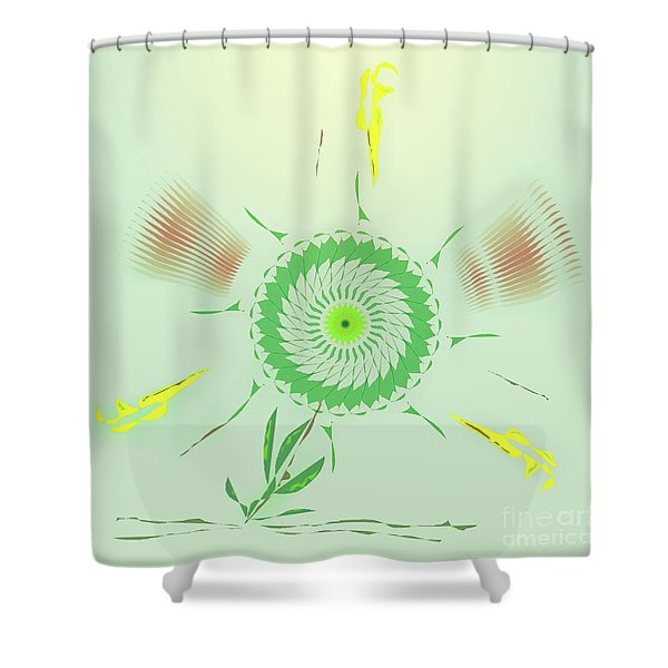Crazy Spinning Flower Shower Curtain