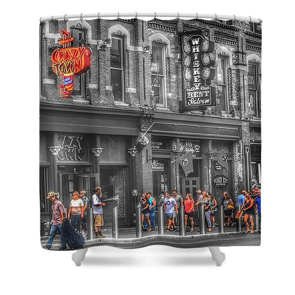 Crazy Town Shower Curtain
