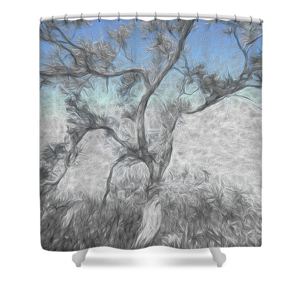 Creeping Up Shower Curtain