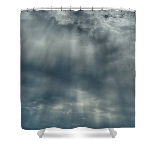 Crepuscular Rays Clouds Shower Curtain