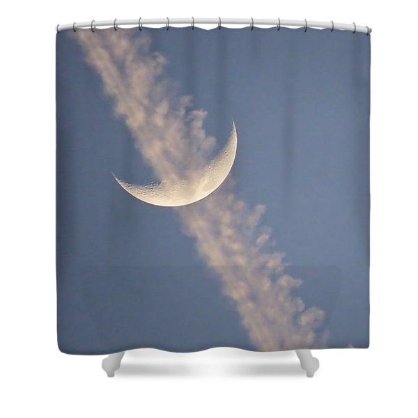 Gemini Crescent In Contrail Shower Curtain