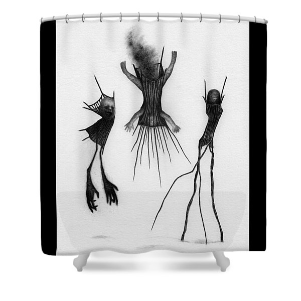 Crib Bound Corrupted - Artwork Shower Curtain