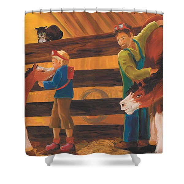 Cricket And Ginger Shower Curtain