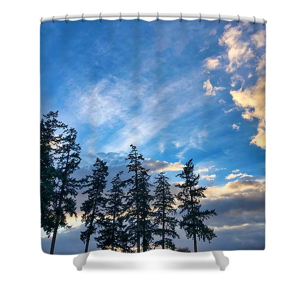Crisp Skies Shower Curtain