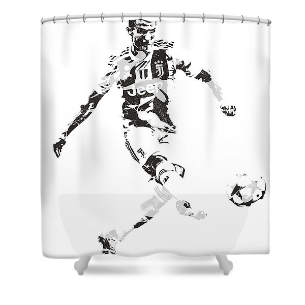 Cristiano Ronaldo Juventus Pixel Art 4 Shower Curtain